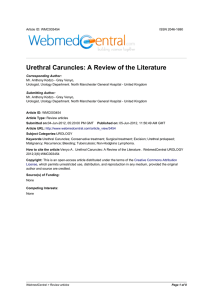 Urethral Caruncles: A Review of the Literature