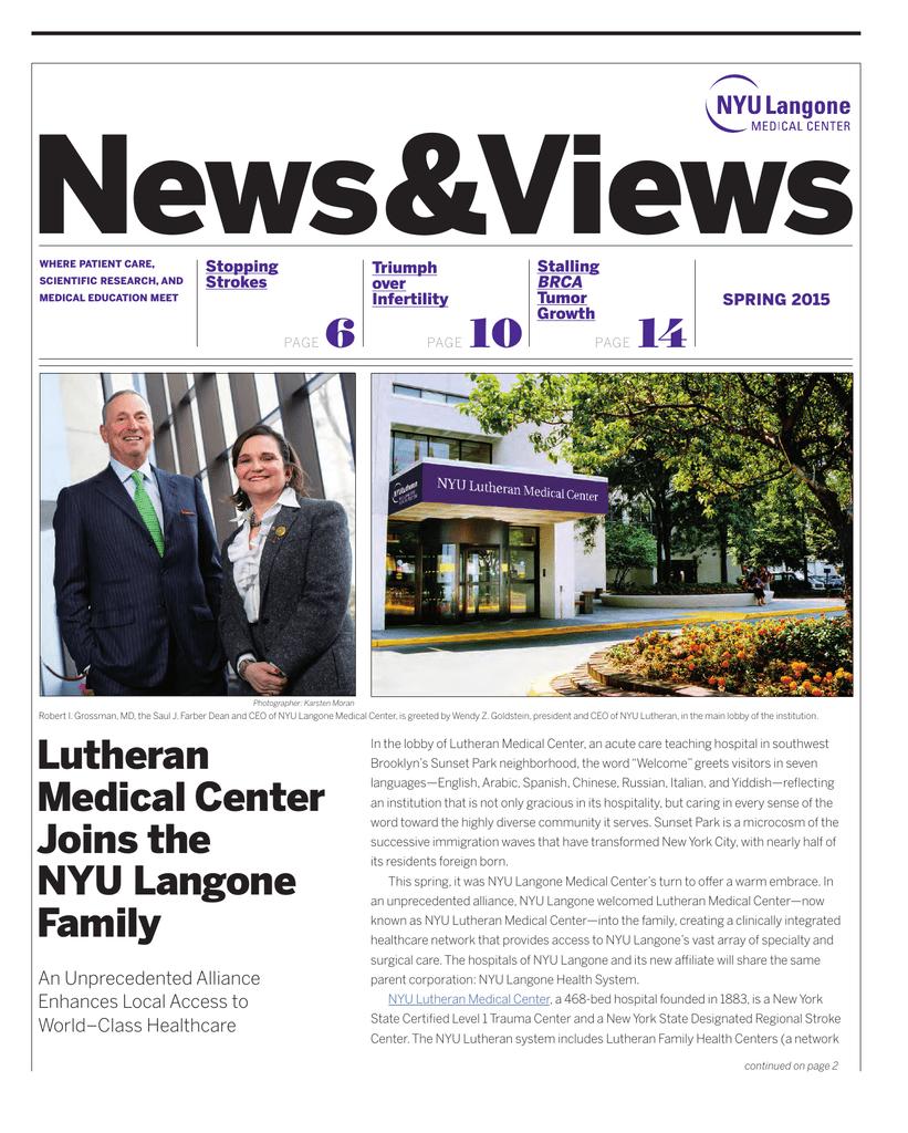 NYU News and Views - NYU Langone Medical Center