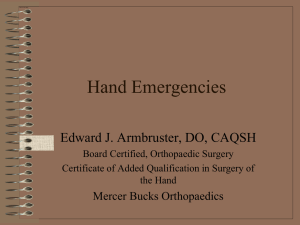 Hand Emergencies - St. Mary Medical Center