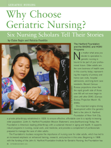 Why Choose Geriatric Nursing? - National Student Nurses Association