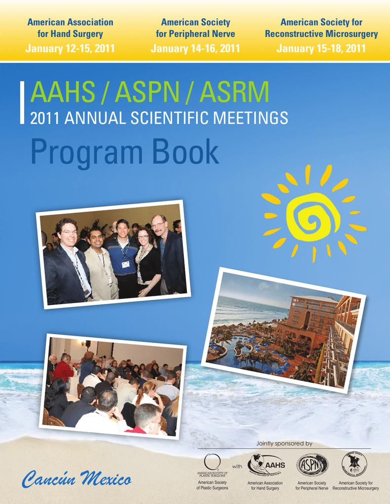 Program Book American Society For Peripheral Nerve