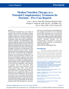 Medical Nutrition Therapy as a Potential Complementary Treatment