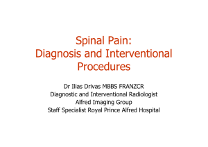 Spinal Pain: Diagnosis and Interventional Procedures
