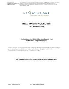 head imaging guidelines