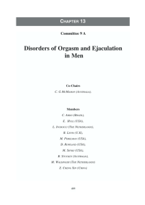 Sexual Dysfunctions in Men and Women