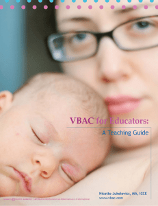 VBAC for Educators
