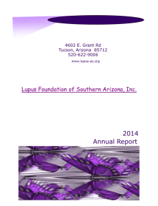 2014 Annual Report - Lupus Foundation of Southern Arizona
