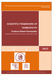scientific framework of homeopathy
