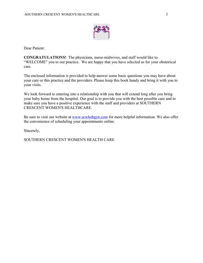 CONGRATULATIONS! - Southern Crescent Women`s Healthcare