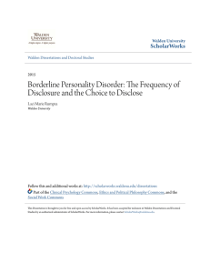 Borderline Personality Disorder: The Frequency of
