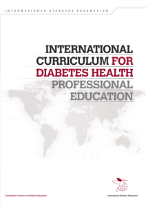 Curriculum - International Diabetes Federation