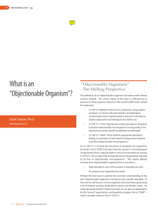 """Objectionable Organism""? - The Microbiology Network"