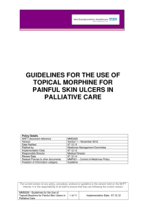 guidelines for the use of topical morphine for painful skin ulcers