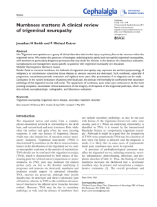 Numbness matters: A clinical review of trigeminal neuropathy