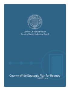 Reentry Strategic Plan - Northampton County Department of