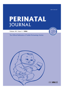 A Case Report - Perinatal Journal