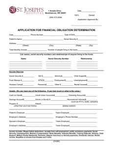 the Financial Assistance Application
