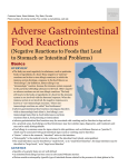 Adverse Gastrointestinal Food Reactions