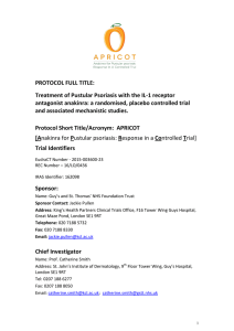 PROTOCOL FULL TITLE: Treatment of Pustular Psoriasis with the IL