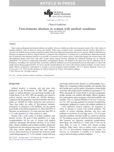 First-trimester abortion in women with medical conditions