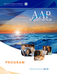 program - American Academy of Pediatrics National Conference