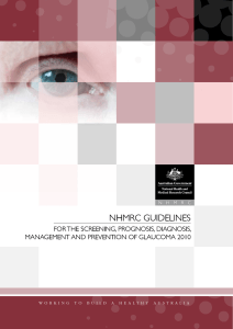 NHMRC GuideliNes foR tHe sCReeNiNG, PRoGNosis, diaGNosis,