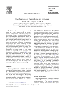 Evaluation of hematuria in children Kevin E.C. Meyers, MBBCh