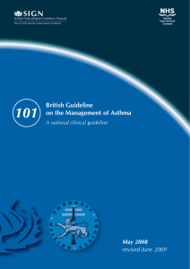 101 SIGN British Guideline on the Management of Asthma