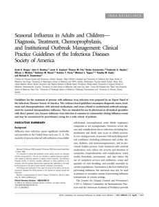 Seasonal Influenza in Adults and Children— Diagnosis, Treatment, Chemoprophylaxis,
