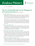 Evidence  Matters The Use of Anticholinergics for the Management