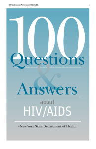 Questions Answers HIV/AIDS about