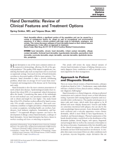 Hand Dermatitis: Review of Clinical Features and Treatment Options