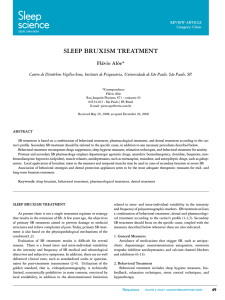 Sleep BruxISm TreaTmeNT Flávio alóe*
