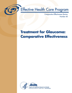 Treatment for Glaucoma: Comparative Effectiveness Comparative Effectiveness Review Number 60
