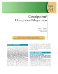 64 Constipation/ Obstipation/Megacolon Chapter