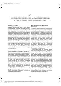24 ADHERENT PLACENTA: NEW MANAGEMENT OPTIONS