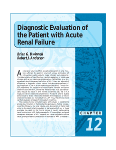 A Diagnostic Evaluation of the Patient with Acute Renal Failure