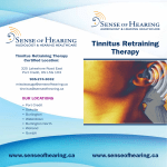 Tinnitus Retraining Therapy Tinnitus Retraining Therapy Certified Location: