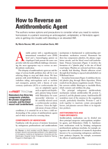 How to Reverse an Antithrombotic Agent
