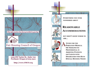 A  R Fair Housing Council of Oregon