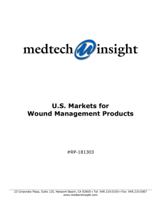 U.S. Markets for Wound Management Products