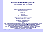 Health Information Systems Architectures and Strategies W.J. ter Burg MSc