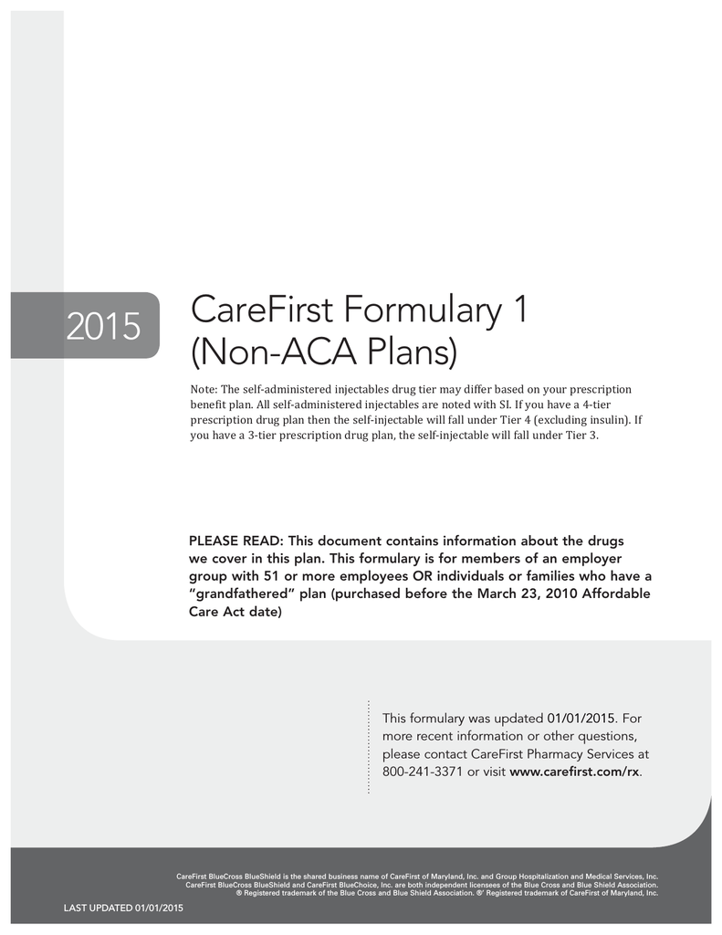 CareFirst Formulary 1 (Non
