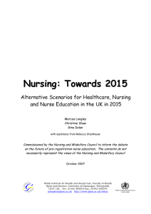 Nursing: towards 2015