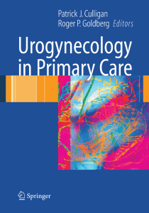 Urogynecology in Primary Care