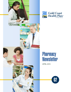 Pharmacy Newsletter - Gold Coast Health Plan