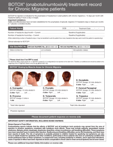 View BOTOX ® Treatment Record for Chronic Migraine Patients
