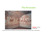 Week 5 - The Etruscans