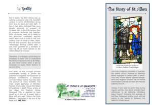 The Story of St Alban - St Alban`s Anglican Church