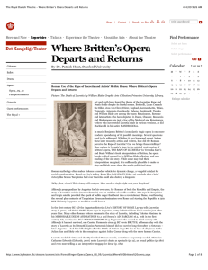 Where Britten`s Opera Departs and Returns